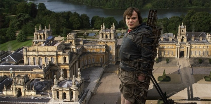 Jack Black in una sequenza del film I fantastici viaggi di Gulliver in 3D