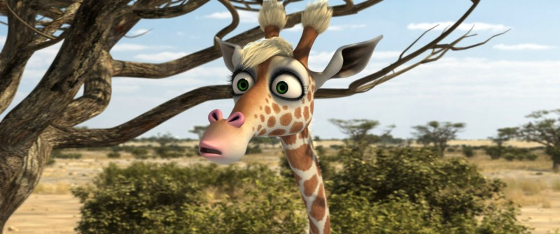 La giraffa Gisela nel film Animals United