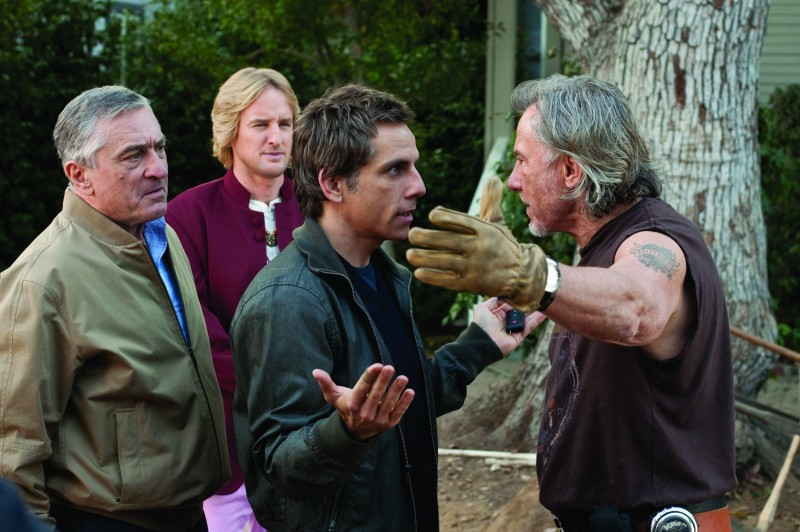 Robert De Niro, Owen Wilson, Ben Stiller e Harvey Keitel nella commedia Vi presento i nostri