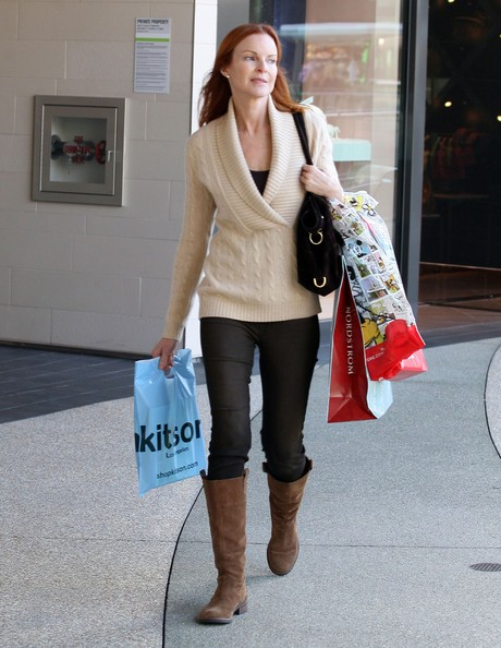 Marcia Cross fa shopping natalizio a West Hollywood