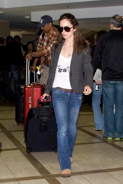 Eliza Dushku e Rick Fox arrivano all'aeroporto di Los Angeles