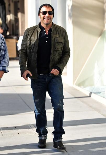 Jeremy Piven con un amico fuori per pranzo a Beverly Hills