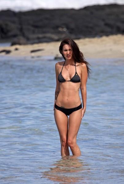 Megan Fox e il marito in spiaggia