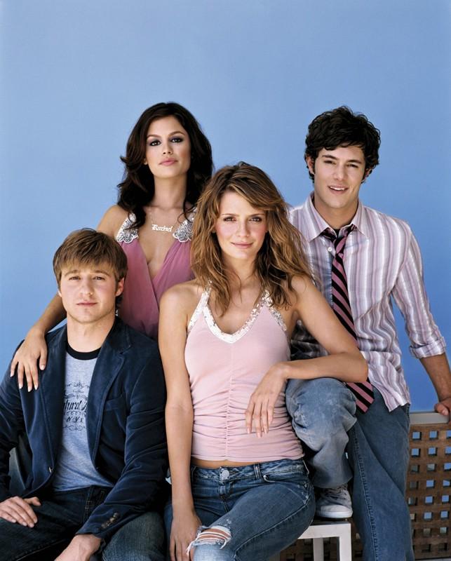 Benjamin McKenzie, Rachel Bilson, Mischa Barton e Adam Brody per la prima stagione di The O.C.