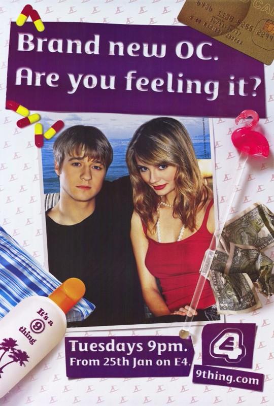 Un poster pubblicitario della prima stagione di The O.C.