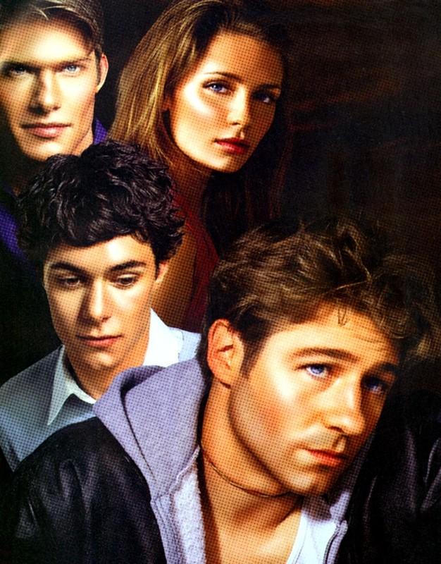 Una composizione con i 4 protagonisti della prima stagione di The O.C.