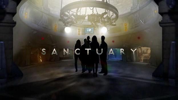Un poster con sviluppo orizzontale della serie Sanctuary