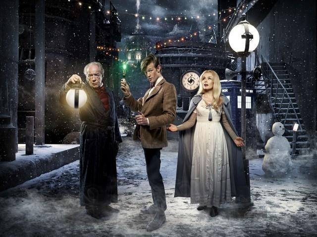 Una foto promozionale dello speciale natalizio A Christmas Carol di Doctor Who