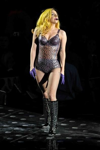 Lady Gaga durante una tappa del suo tour