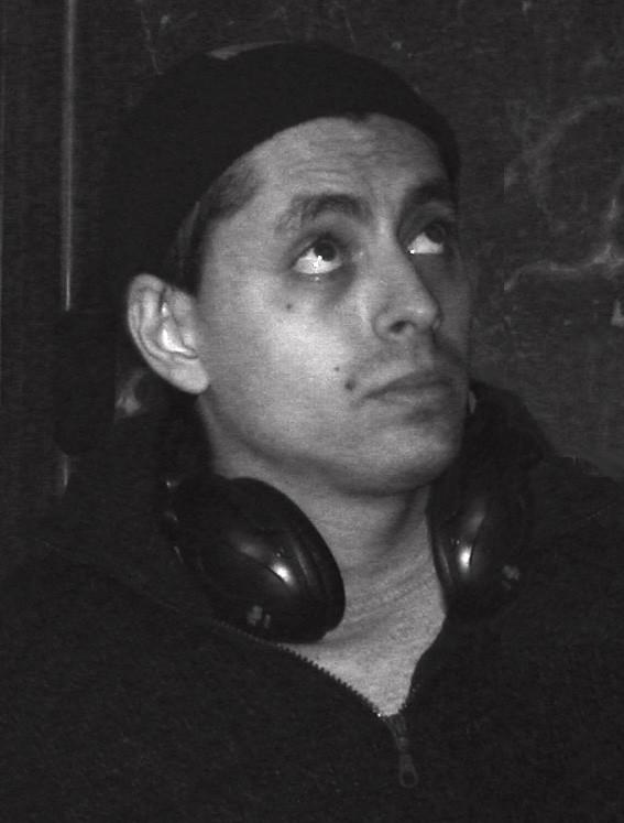 Massimo Coglitore sul set del suo corto Deadline, del 2002