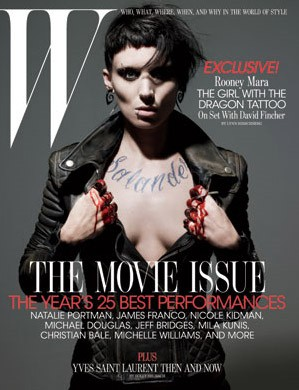 Copertina dedicata alla nuova Lisbeth Salander/Rooney Mara di The Girl with the Dragon Tattoo
