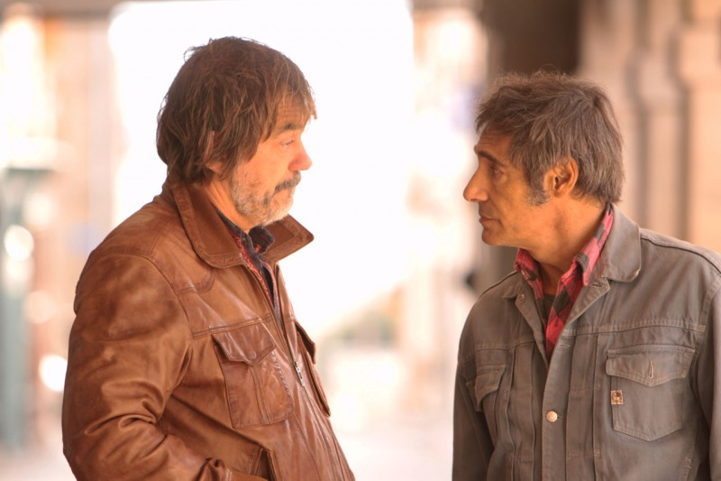 Olivier Marchal e Gérard Lanvin in una scena del film Le fils à Jo