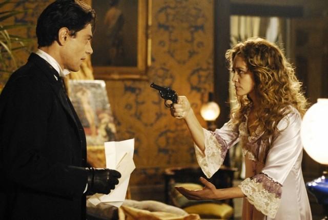 Giuseppe Zeno con Francesca Cavallin nella serie TV Rossella