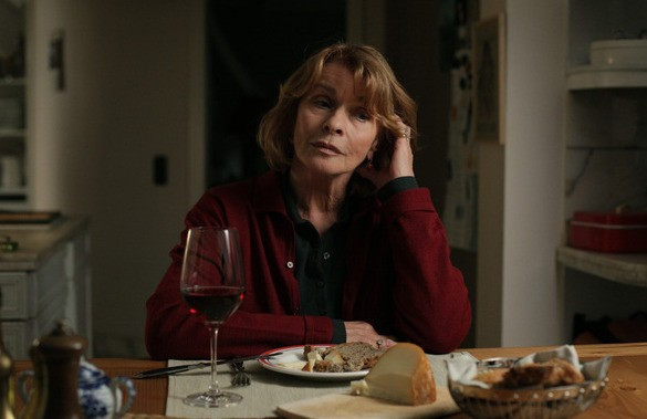 Senta Berger, protagonista femminile del film Satte Farben vor Schwarz