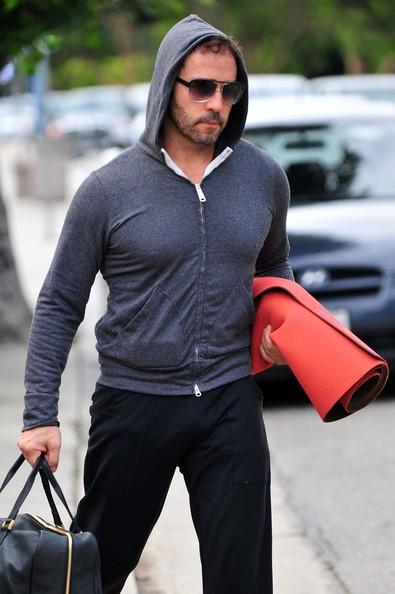 Jeremy Piven dopo una lezione di yoga presso il Country Brentwood Mart, in California