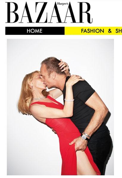 Trudie Styler e Sting su una cover sexy di Harper's Bazaar