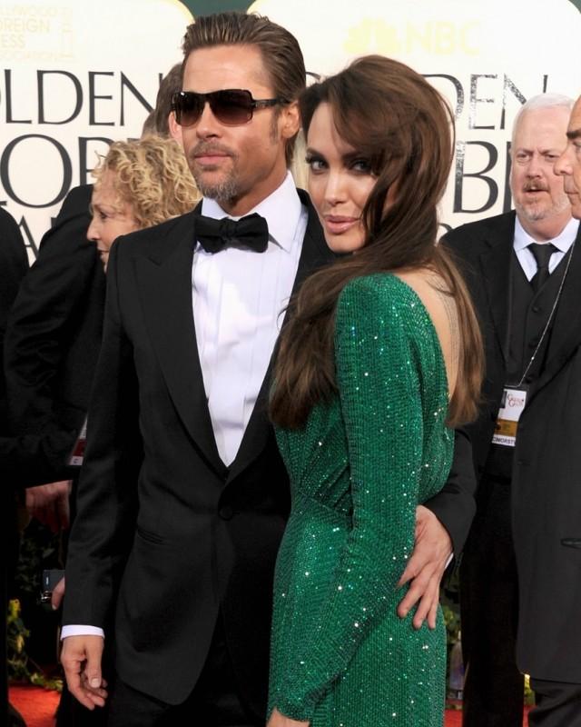 Brad Pitt e Angelina Jolie sul red carpet dei Golden Globes 2011
