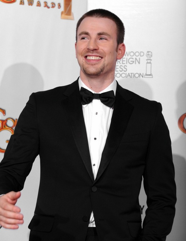 Chris Evans sul red carpet dei Golden Globes 2011