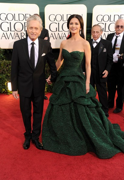 Golden Globes 2011, Catherine Zeta-Jones e Michael Douglas sul red carpet