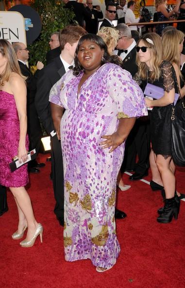 Golden Globes 2011, Gabby Sidibe in posa da diva sul red carpet