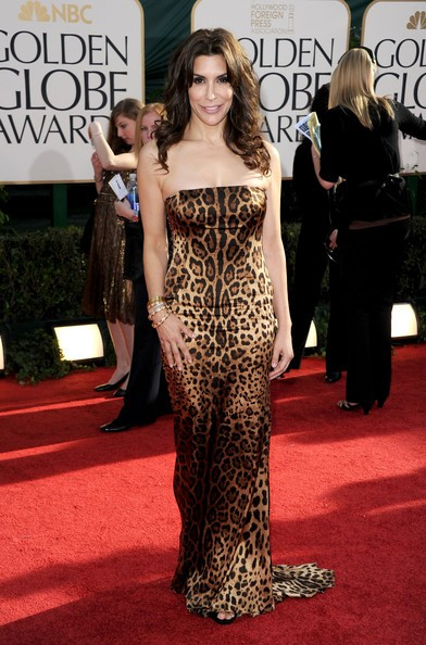 Golden Globes 2011: look animalier per Jo Champa, sul red carpet