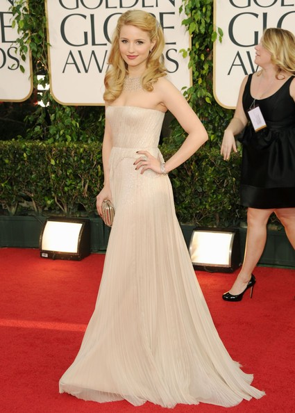 Golden Globes 2011: un'incantevole Dianna Agron sul red carpet