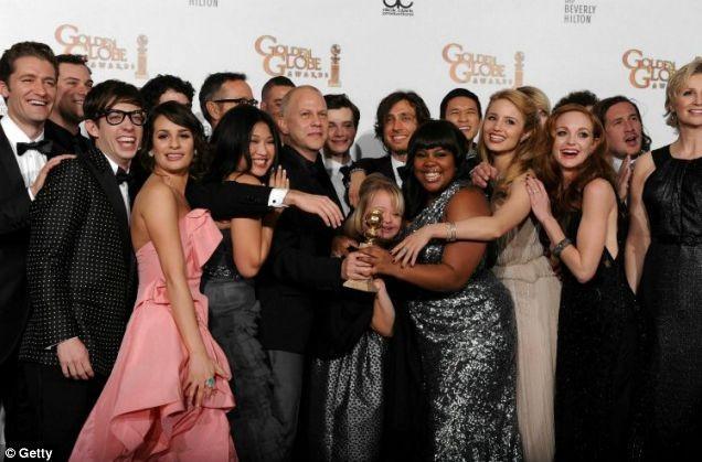 Il cast di Glee ai Golden Globes 2011