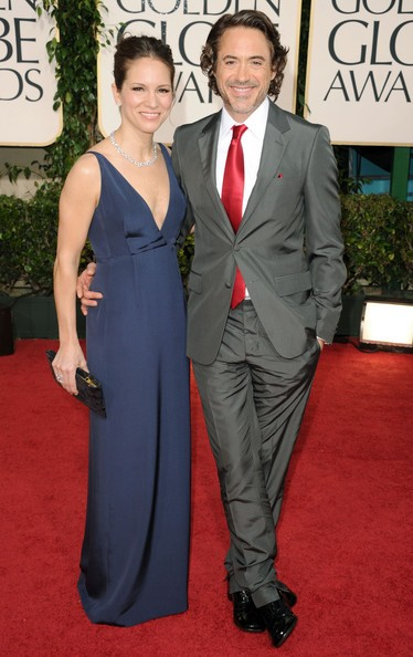 Susan e Robert Downey jr. sul red carpet dei Golden Globes 2011