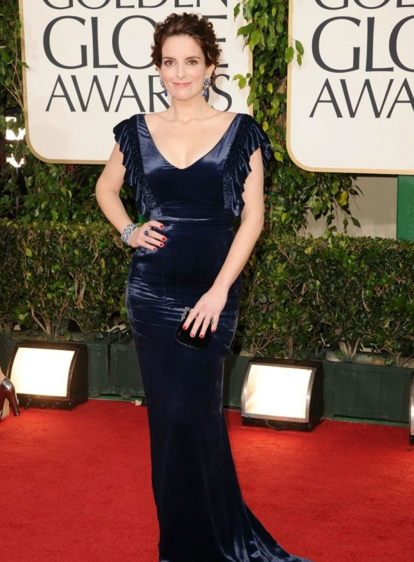 Tina Fey sul red carpet dei Golden Globes 2011