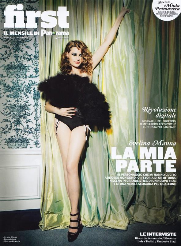 Evelina Manna sulla cover del magazine First