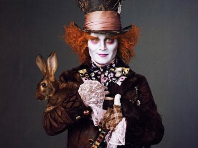 Il Cappellaio Matto di Johnny Depp in Alice in Wonderland di Tim Burton