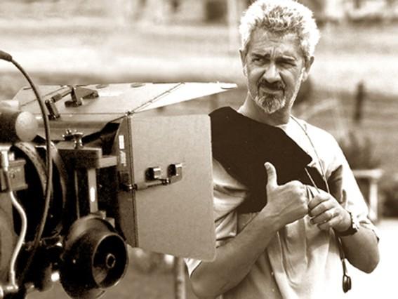 Massimo Pau sul set