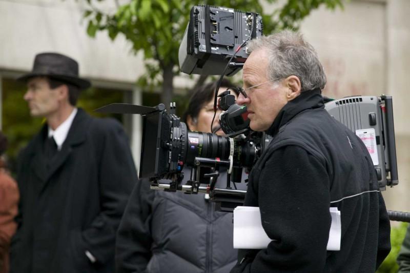 Michael Mann sul set di Public Enemies