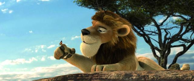 Sokrates, il leone romantico del film Animals United