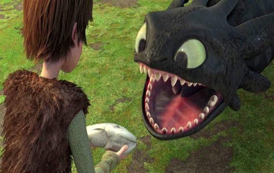 Una divertente immagine del film 3D Dragon Trainer
