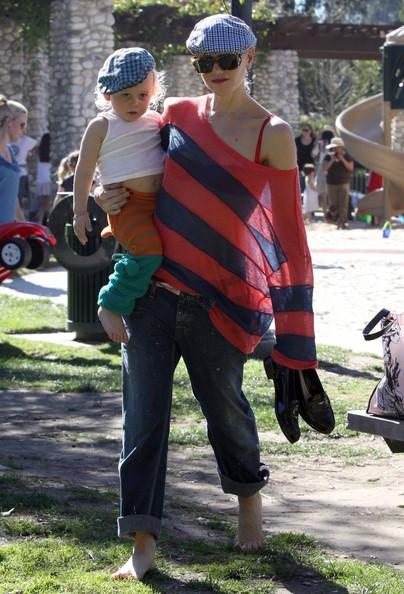 Gwen Stefani porta i suoi figli al Coldwater Canyon Park di Beverly Hills
