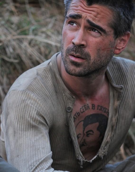 Un'immagine di Colin Farrell dal film The Way Back