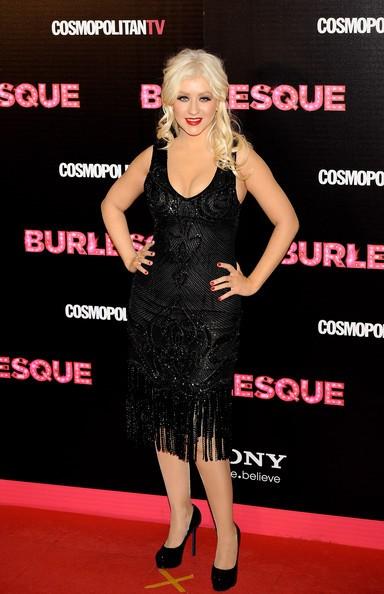 Christina Aguilera durante la promozione di Burlesque