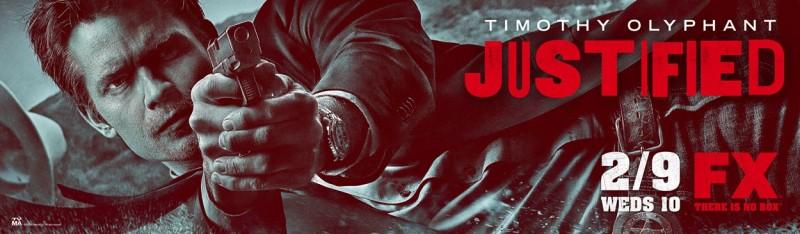 Poster con sviluppo orizzontale per la stagione 2 di Justified