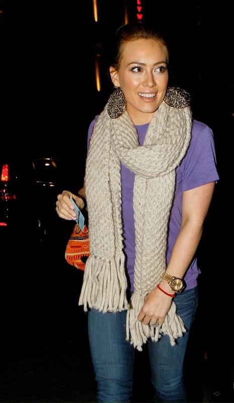 Hilary Duff a Los Angeles, il 19 gennaio 2011