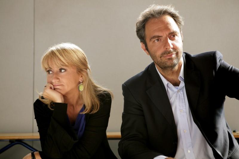 Luciana Littizzetto e Neri Marcoré nella serie tv Fuoriclasse