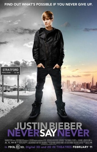 Nuovo poster USA per Justin Bieber: Never Say Never