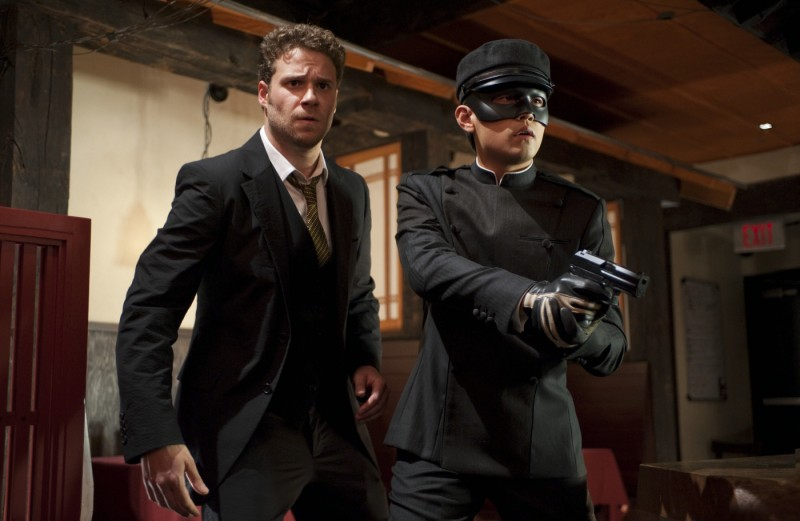 Seth Rogen e Jay Chou in una sequenza del film The Green Hornet