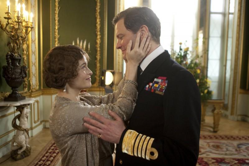 Helena Bonham Carter con Colin Firth nel film The King's Speech