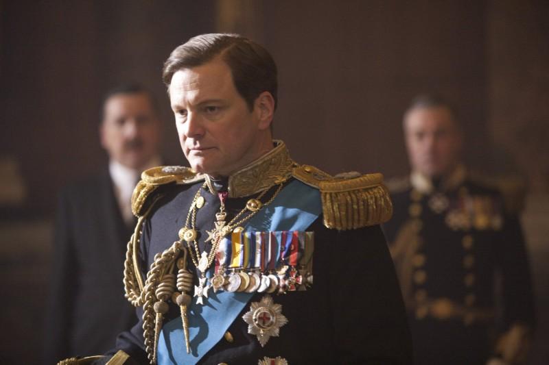 Colin Firth in divisa regale nel film The King's Speech