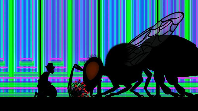 Una surreale sequenza del film Tales Of The Night (Les contes de la nuit) di Michel Ocelot