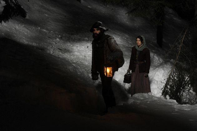 Inga Birkenfeld e Wolfgang Menardi irriconoscibili in una scena del film Bergblut