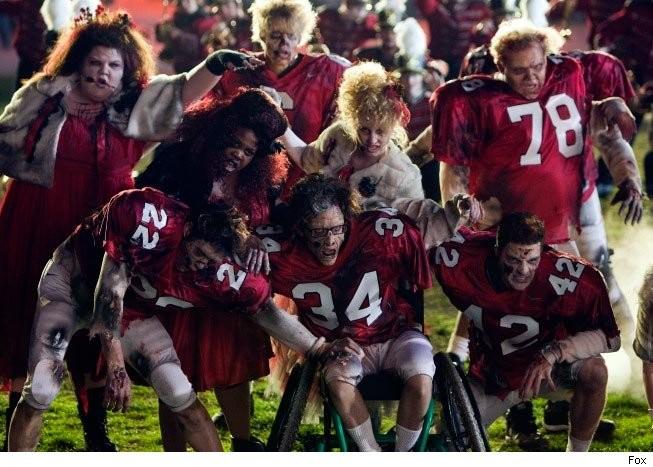 Una scena dell'episodio del Super Bowl di Glee