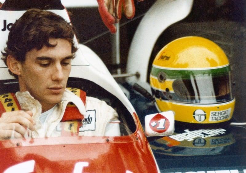 Ayrton Senna in un'immagine del biopic a lui dedicato, Senna