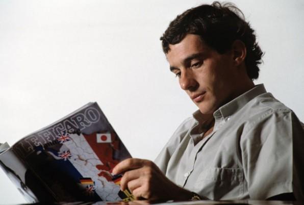 Ayrton Senna in uno scatto tratto dal film Senna